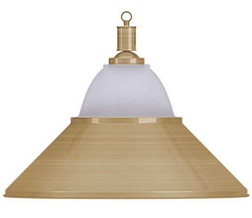 Лампа на один плафон «Jazz» (матово-бронзовая чашка, матово-бронзовый плафон D38см)