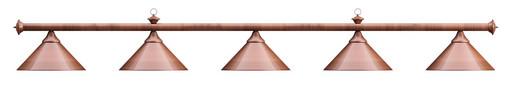 Лампа на пять плафонов «Elegance» (бронзовая штанга, бронзовый плафон D35см)