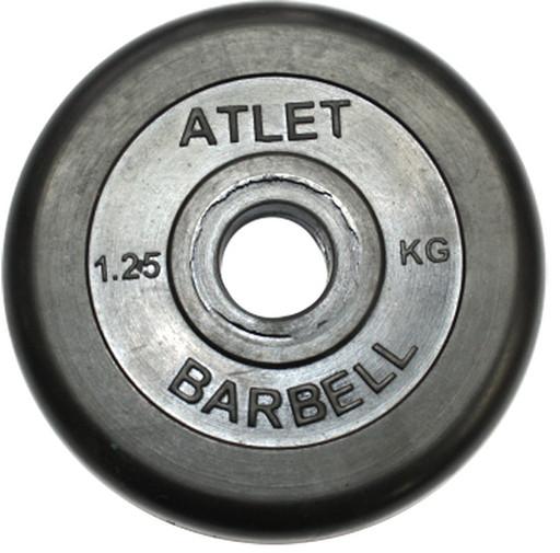 Диски обрезиненные, чёрного цвета, 26 мм, Atlet MB-AtletB26-1,25