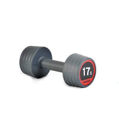 Гантели обрезиненные Reebok, 17,5 кг RSWT-100675