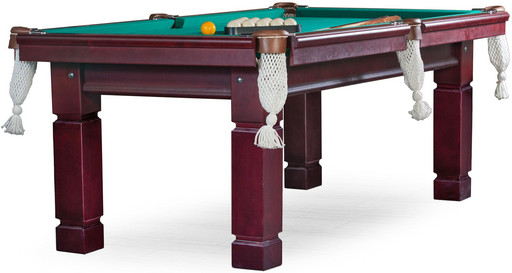 Бильярдный стол для русского бильярда «Техас» 8 ф (махагон) ЛДСП