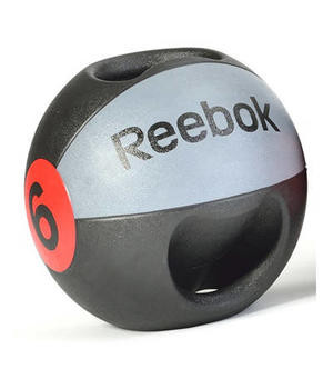 Медицинский мяч с рукоятками Reebok, 6  кг RSB-10130