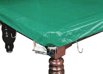 Покрывало для стола 9 ф (влагостойкое, зеленое, резинки на лузах)