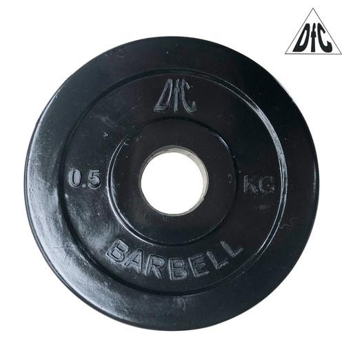 Диск обрезиненный DFC, чёрный, 26 мм, 0,5кг