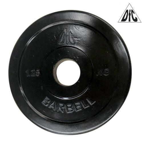 Диск обрезиненный DFC, чёрный, 31 мм, 1,25кг
