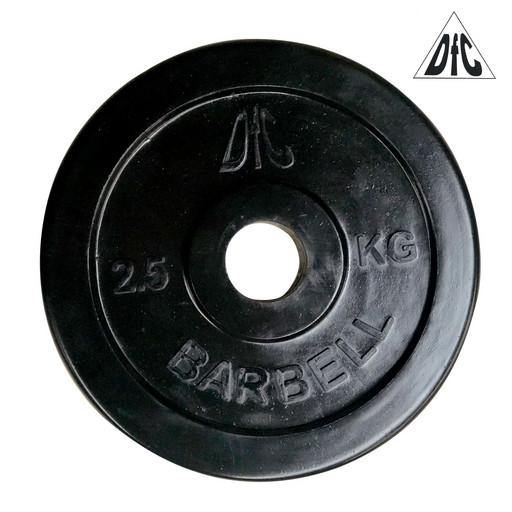Диск обрезиненный DFC, чёрный, 31 мм, 2,5кг