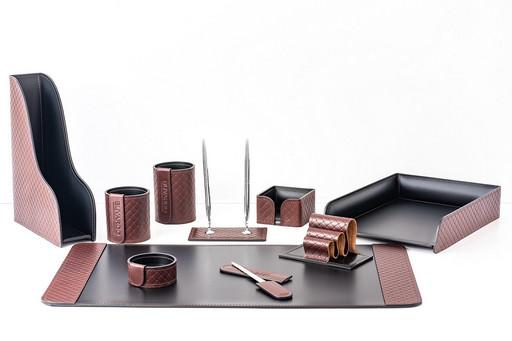 Настольный набор из кожи FG BOLOGNA TRECCIA/СUOIETTO