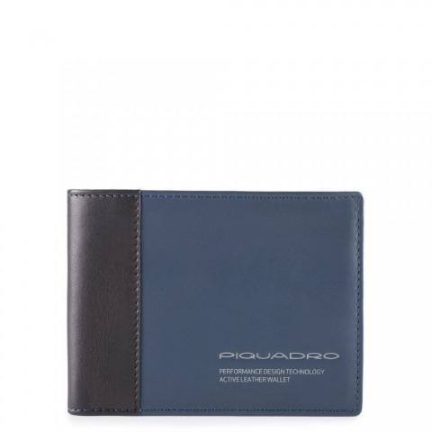 Портмоне Piquadro PU1392DTR/BLU с дополнительном отсеком для банковских карт