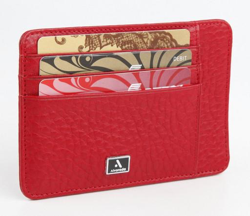 Кожаная женская кредитница Alvorada 3015 RED FLOTTER