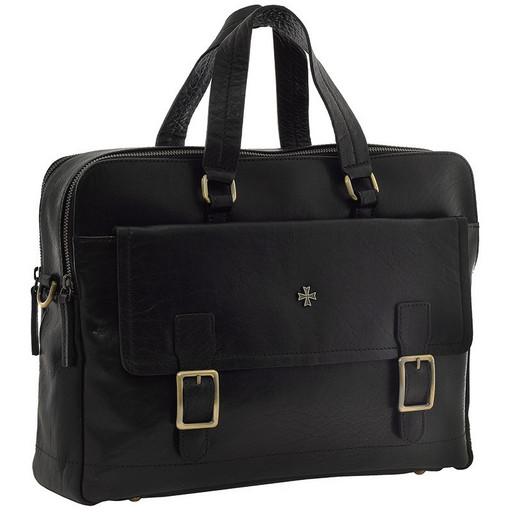 Портфель мужской кожаный NarVin 9763 N.Vegetta Black
