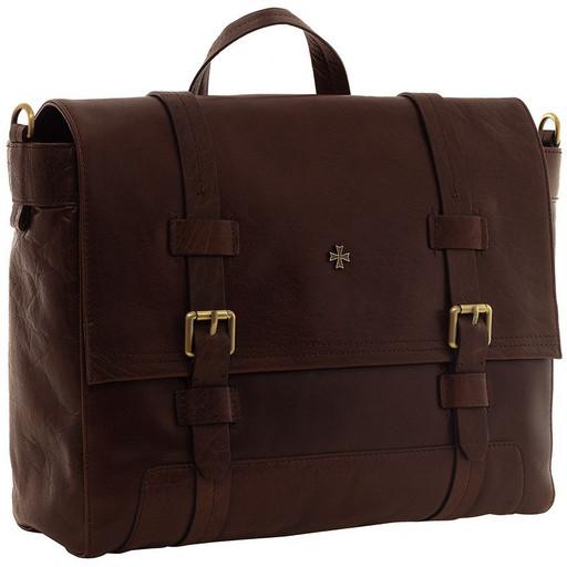 Портфель мужской кожаный NarVin 9762 N.Vegetta Brown