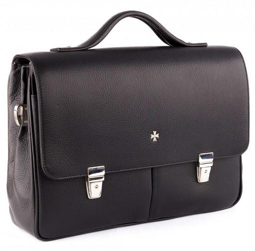 Портфель мужской кожаный NarVin 9738 N.Polo/Black