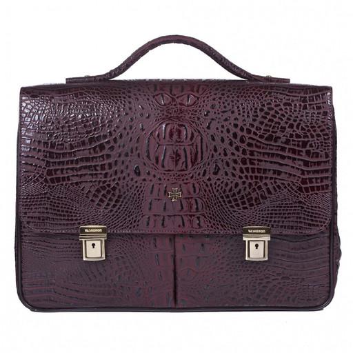 Портфель мужской кожаный NarVin 9738 N.Bambino/Burgundy