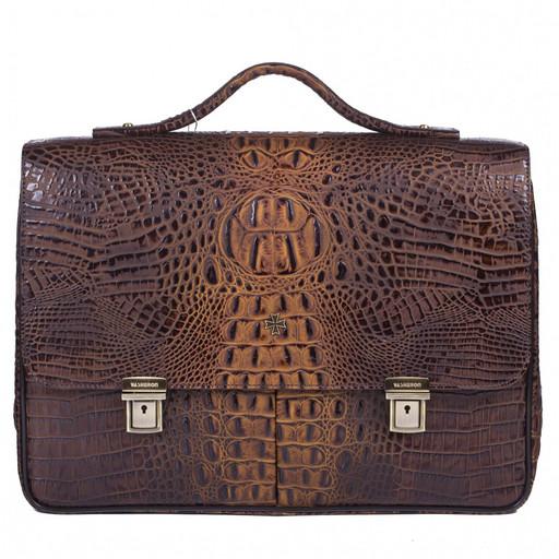 Портфель мужской кожаный NarVin 9738 N.Bambino/Olive