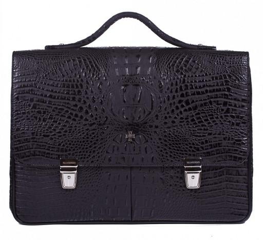 Портфель мужской кожаный NarVin 9738 N.Bambino/Black