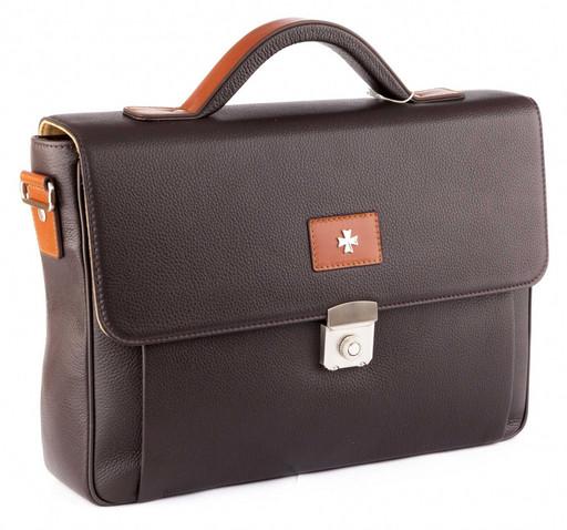 Портфель мужской кожаный NarVin 9746 N.Polo/Brown
