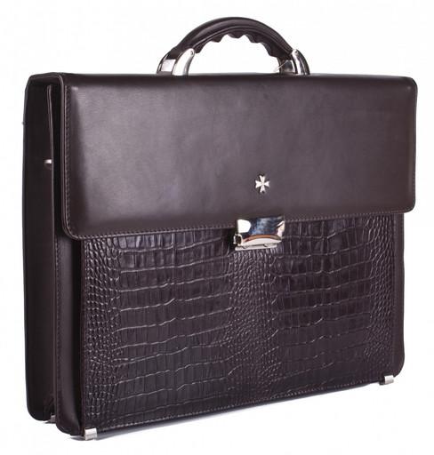 Портфель мужской кожаный NarVin 9745 Aligro Brown