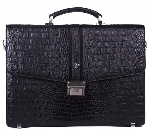 Портфель мужской кожаный NarVin 9736 N.Bambino Black