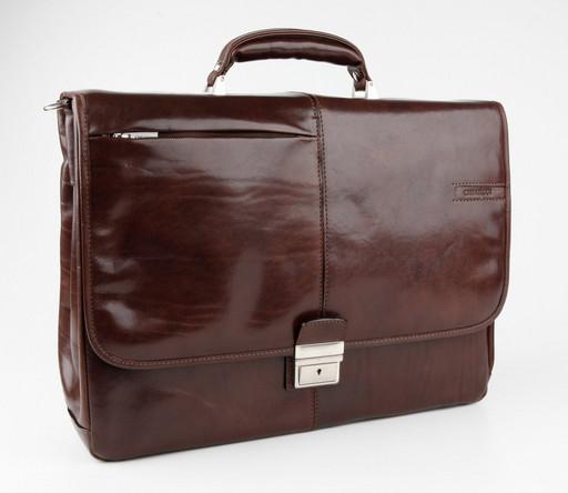 Кожаный портфель Chiarugi 4538 MORO