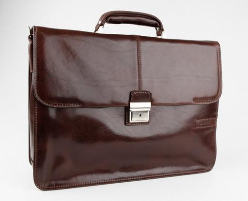 Кожаный портфель с отделением для ноутбука Chiarugi 4559 MORO