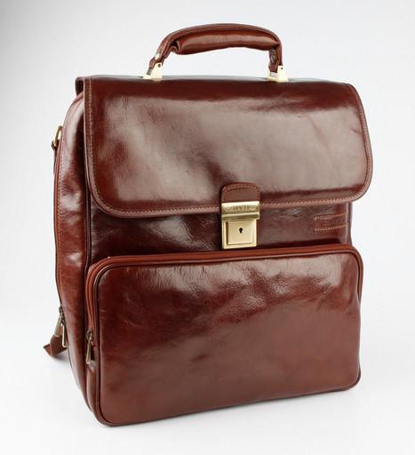 Кожаный рюкзак-планшет Chiarugi 4562 MARR