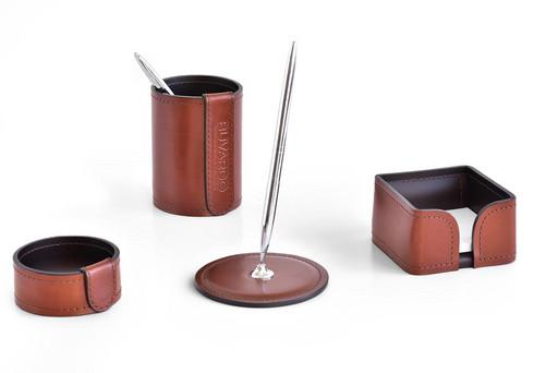 Настольный набор из кожи TOSCANA TAN/CUOIETTO