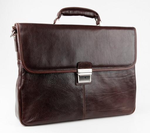 Портфель кожаный мужской Chiarugi 94575 MORO