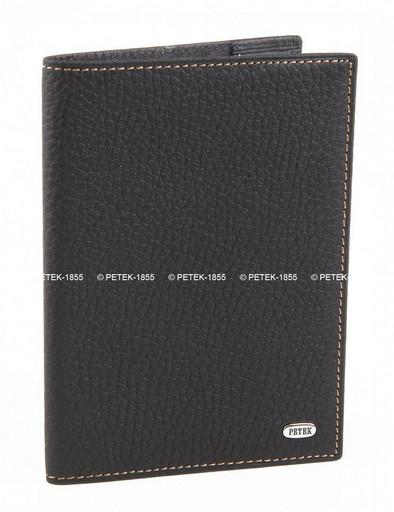 Обложка для паспорта кожаная Petek 581.234.KD1