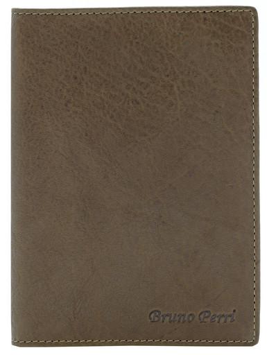 Мужская кожаная обложка для паспорта Bruno Perri B-0629/2