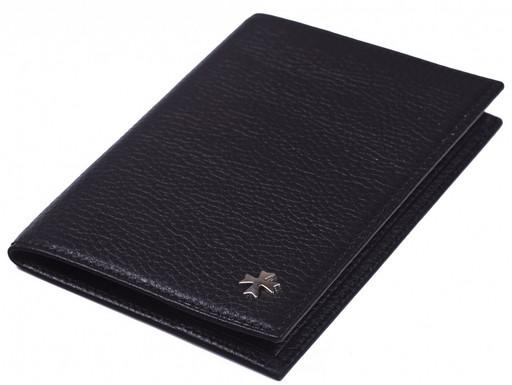 Обложка кожаная для паспорта NarVin 9155 N.Polo Black