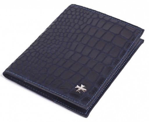 Обложка для паспорта и посадочного талона NarVin 9161 N.Aligro Indigo