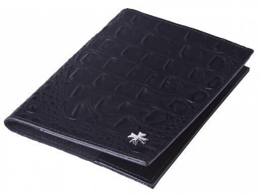 Обложка для паспорта кожаная NarVin 9161 N.Bambino Black