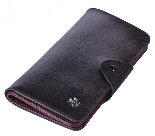Бумажник мужской кожаный NarVin 9650 N.Vegetta Black