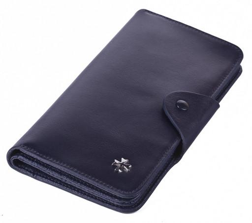 Бумажник кожаный NarVin 9650 N.Vegetta D.Blue