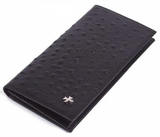 Бумажник мужской кожаный NarVin 9667 N.Ostrich Black