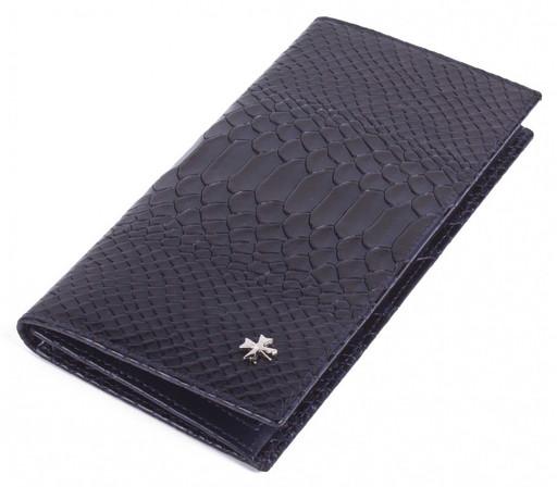 Бумажник мужской кожаный NarVin 9667-N.Anaconda D.Blue