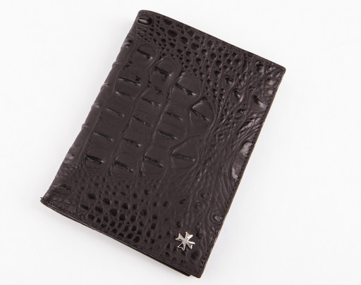 Портмоне мужское c отделением для паспорта NarVin 9672-N.Bambino/Black