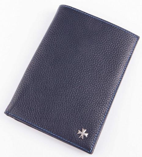 Портмоне мужское c отделением для паспорта NarVin 9672 N.Polo/Blue