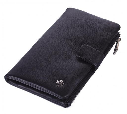 Бумажник кожаный NarVin 9688 N.Polo Black