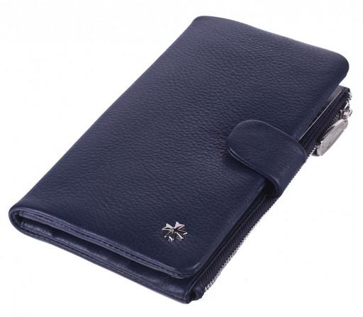 Бумажник кожаный NarVin  9688 N.Polo D.Blue