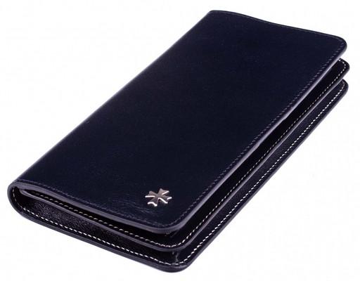 Бумажник кожаный NarVin 9689 N.Vegetta D.Blue