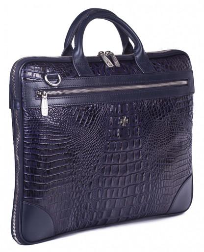 Мужская деловая сумка NarVin 9742 N.Bambino D.Blue