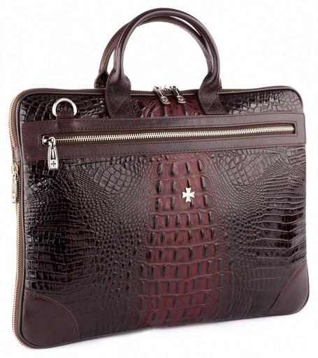 Мужская деловая сумка NarVin 9742 N.Bambino/Burgundy