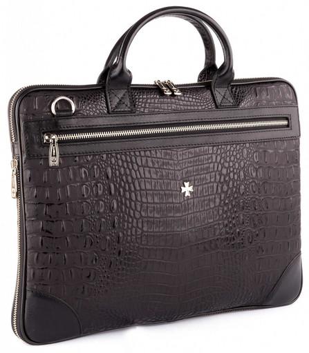 Мужская деловая сумка кожаная NarVin 9742 N.Bambino/Black