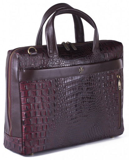 Мужская сумка-портфель кожаный NarVin 9752 N.Bambino-Burgundy