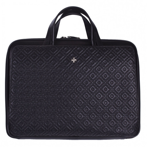 Сумка-портфель кожаная NarVin 9753 N.Logo Black