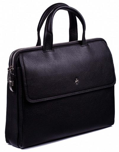 Сумка-портфель кожаная NarVin 9759 N.Polo Black