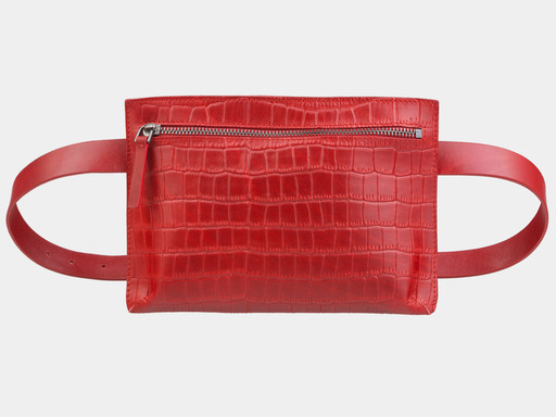 Женская сумка на пояс Alexander TS KB0014 Red Croco