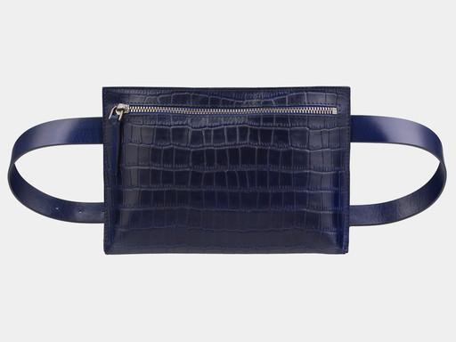 Женская сумка на пояс Alexander TS KB0014 Blue Croco