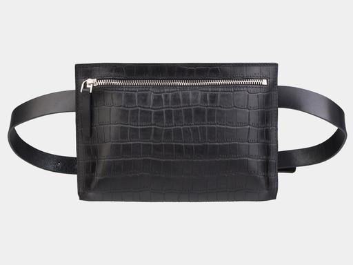 Женская сумка на пояс Alexander TS KB0014 Black Croco